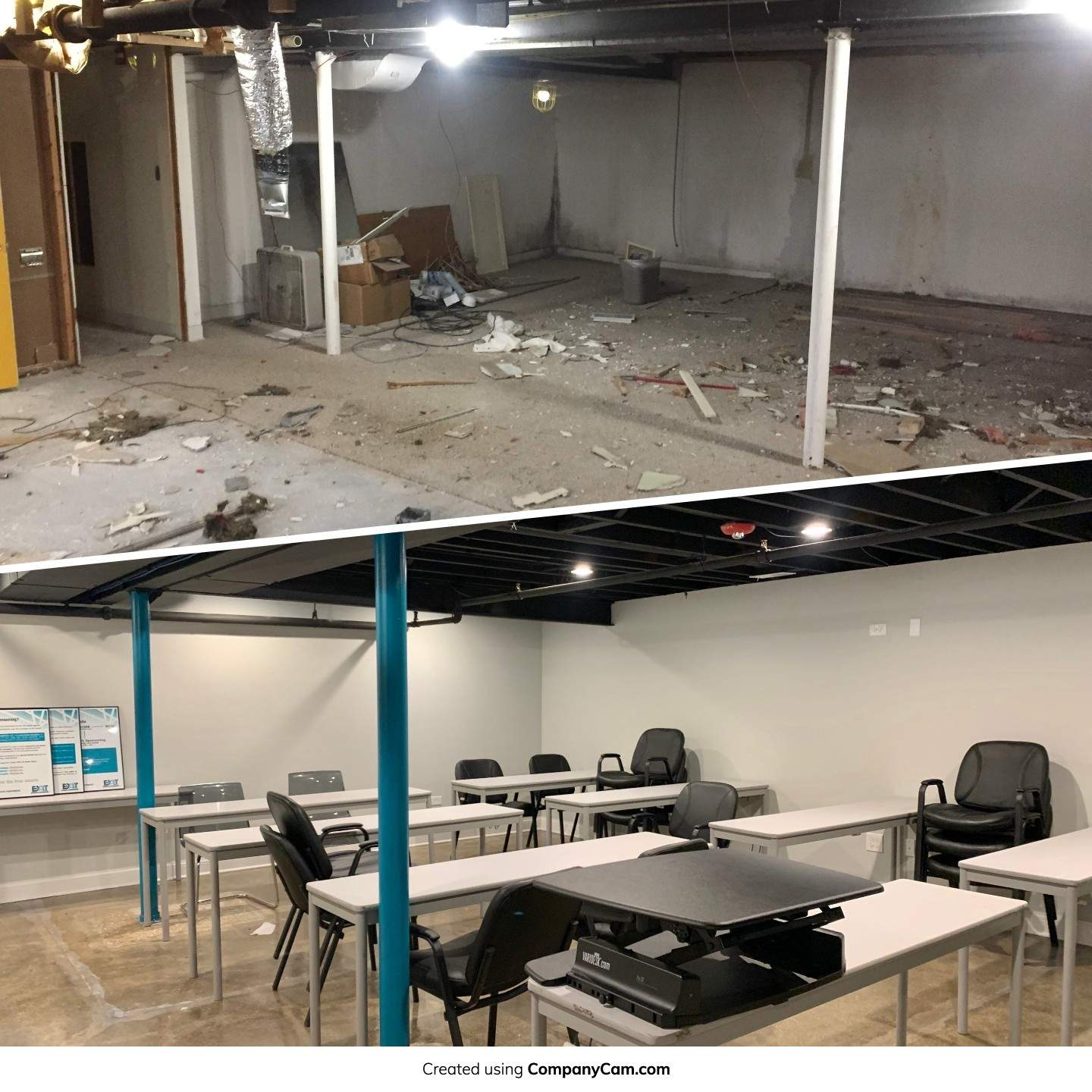 Before-After Training Room